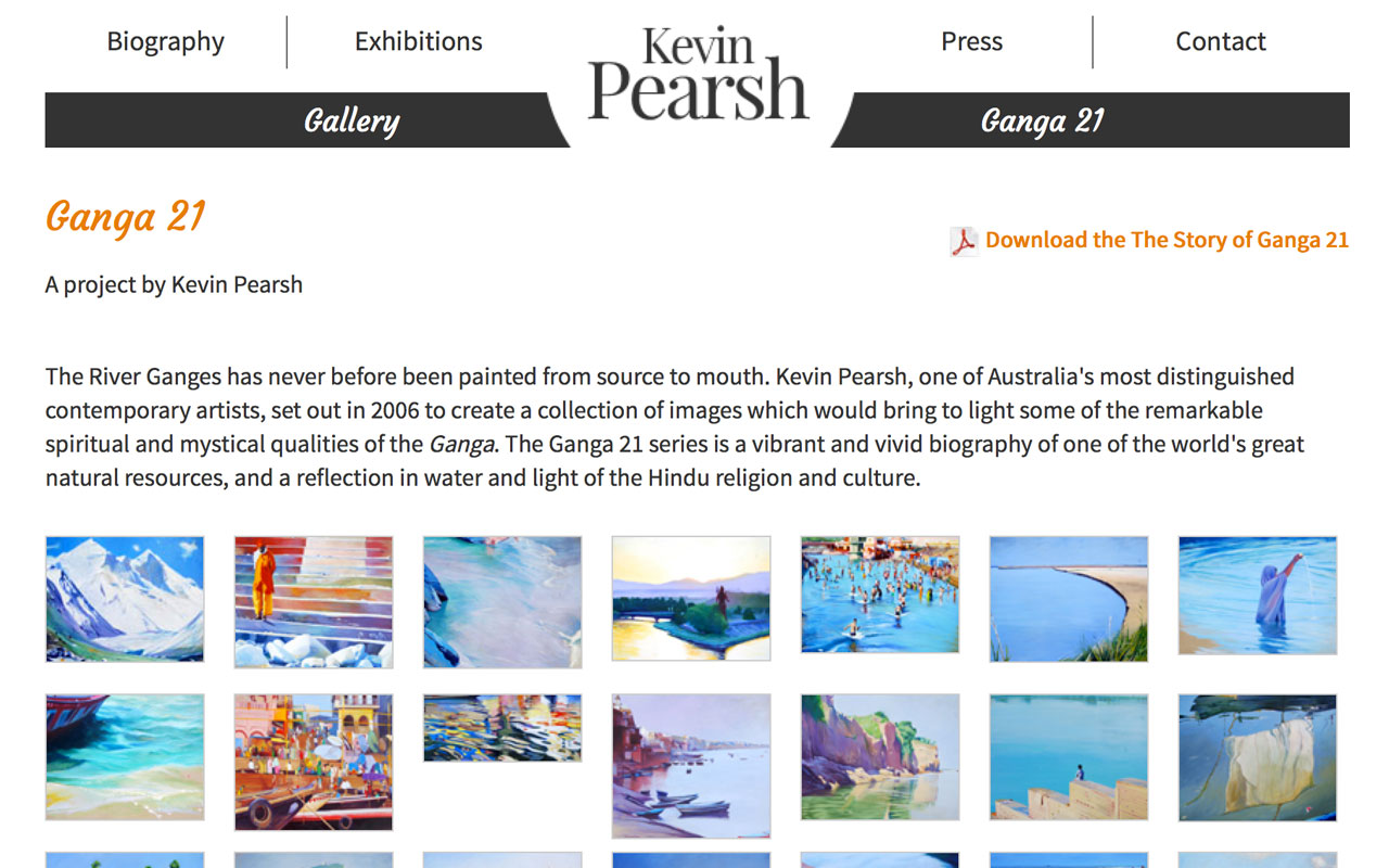 Webdesign du site de Kevin Pearsh